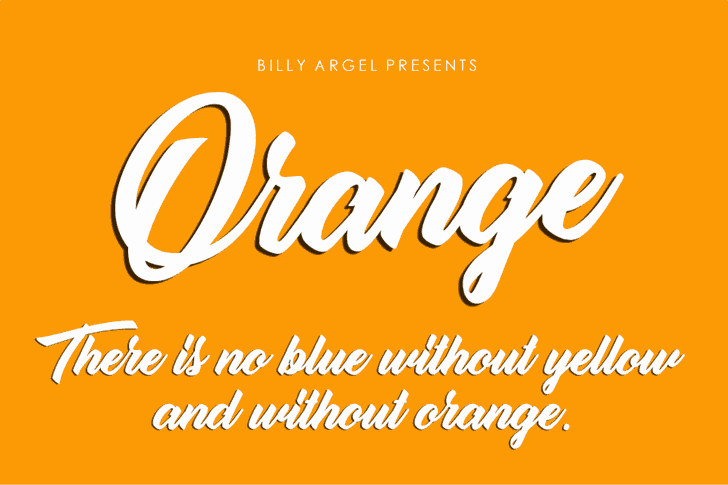 Download Orange font (typeface)