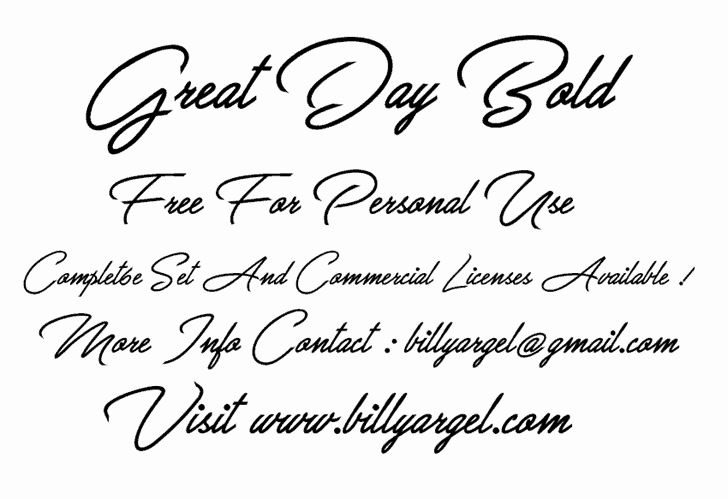 Download Great Day Bold font (typeface)