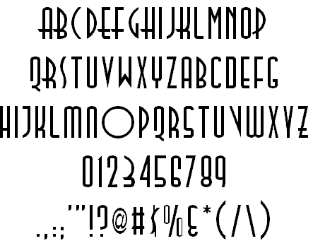 Download Tall Deco font (typeface)