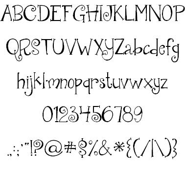 Download Janda Quirkygirl font (typeface)
