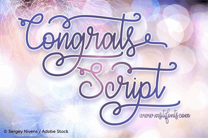 Download Congrats Script font (typeface)