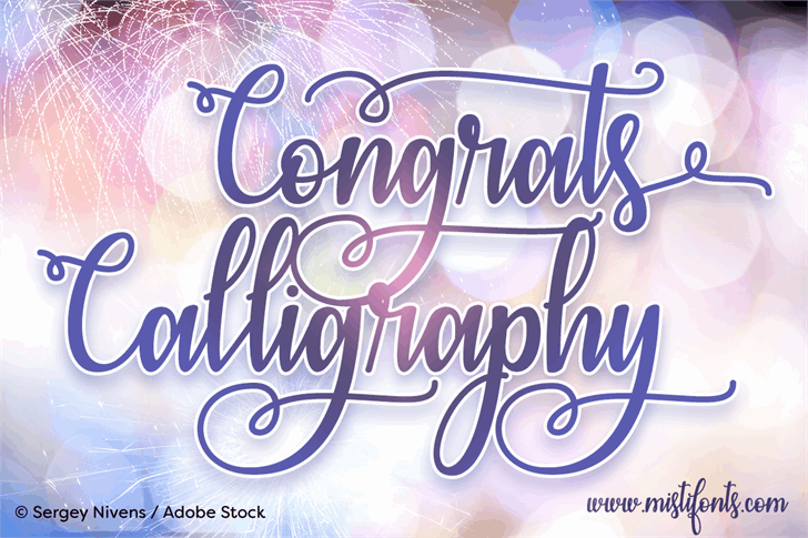 Download Congrats Calligraphy font (typeface)