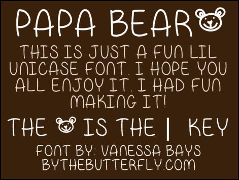 Download Papa Bear font (typeface)