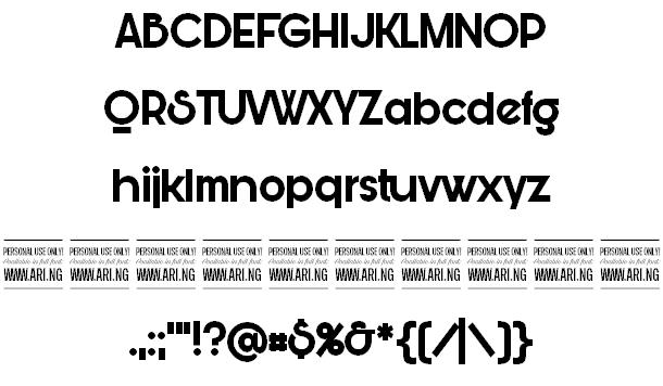 Download Bunya font (typeface)