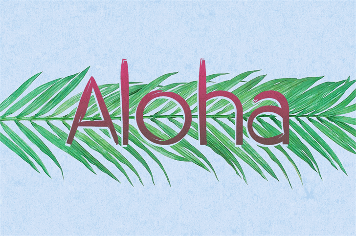 Download Aloha font (typeface)