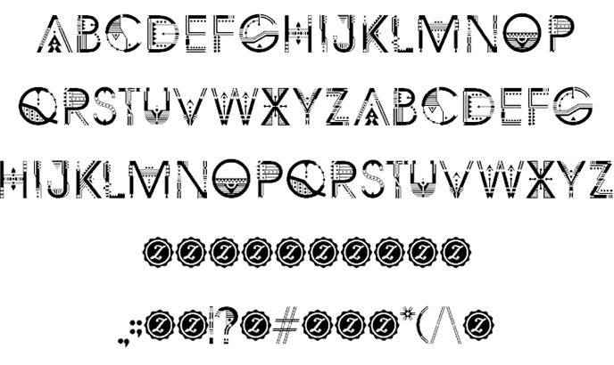 Download ZILAP GEOMETRIK font (typeface)