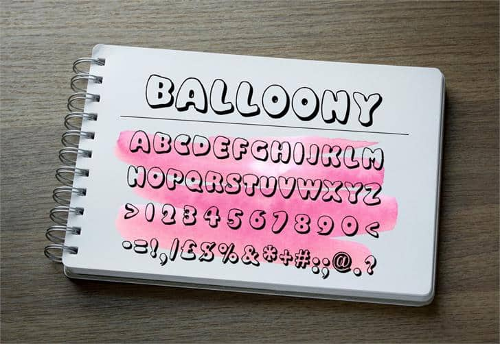Download Balloony font (typeface)