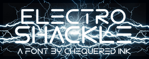 Download Electro Shackle font (typeface)