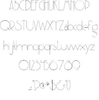 Download Party at Gatsby's font (typeface)