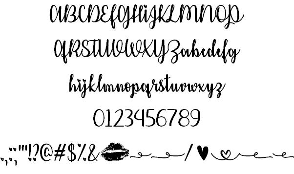 Download Kiss Me or Not font (typeface)
