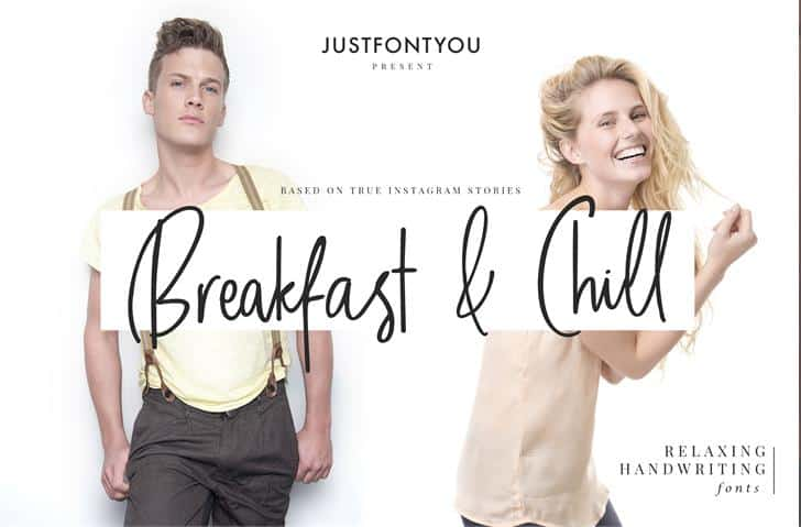 Download Breakfast And Chill font (typeface)
