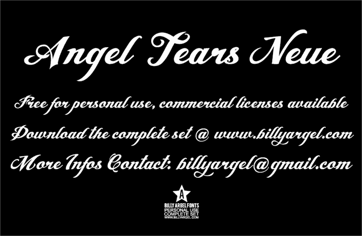 Download Angel Tears Neue font (typeface)