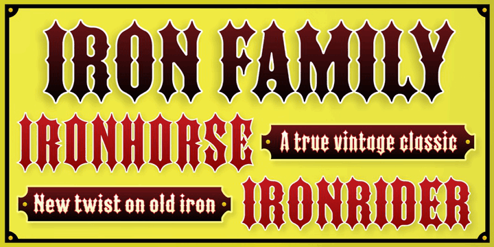 Download IRON FAMILY font (typeface)
