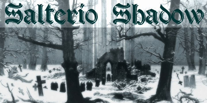 Download Salterio Shadow font (typeface)
