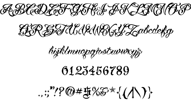 Download VTC Tattoo Script Two font (typeface)