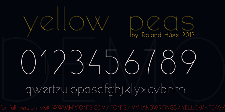 Download Yellow peas font (typeface)