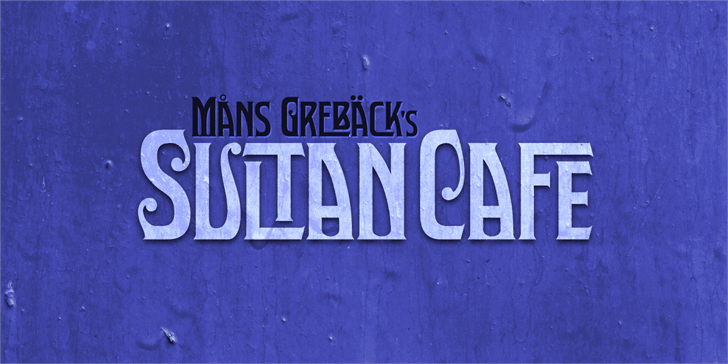 Download Sultan Cafe font (typeface)