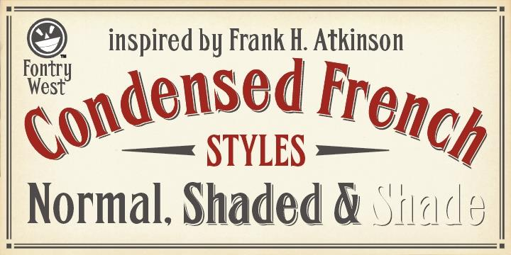 Download FHA Condensed French font (typeface)