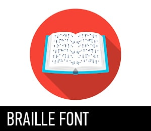 BRAILLE FONT