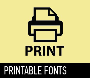 photo about Printable Fonts named The simplest fonts upon a single website