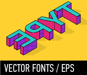 VECTOR FONTS EPS